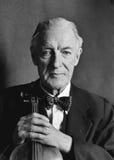 violinist för musikerståendepensionär Arkivfoton