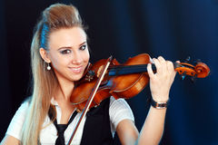 Violinist girl Stock Image