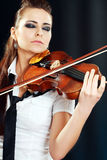 Violinist girl Stock Photo