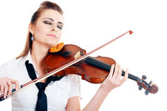 Violinist girl Stock Photography