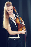Violinist girl Royalty Free Stock Images