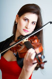 Violinist girl Royalty Free Stock Photography