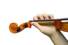 Violinist hand Stock Images
