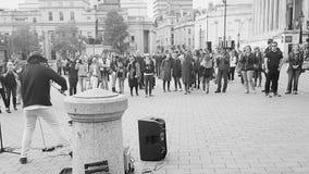 Violinist im Trafalgar-Platz London Lizenzfreie Stockbilder
