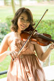 Violinist lady Royalty Free Stock Images