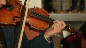 Violinist Man Play Violin stock video