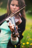 Violinist  Royalty Free Stock Photos