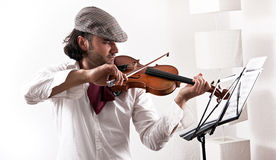 A violinist playing Royalty Free Stock Images