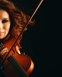 Violinist playing violin Royalty Free Stock Photo