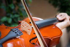 Violinist playing violin,music concept. Stock Photography