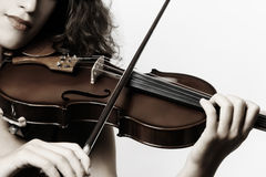 Violinist playing violin Royalty Free Stock Photos