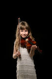 Violinist playing the violin Stock Images