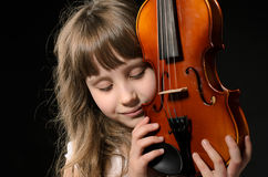 Violinist playing the violin Royalty Free Stock Photo