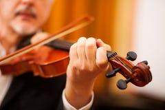 Violinist portrait Stock Photos