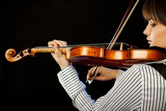 Violinist profile Royalty Free Stock Image