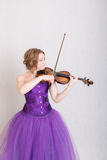 Violinist in profile Stock Photography