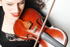 Violinist with violin insrtument Stock Photos