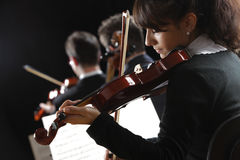 Violinist woman Stock Photos