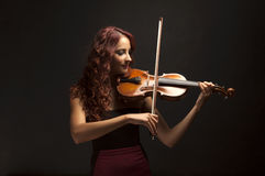 Violinist Woman Stock Photography