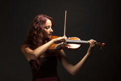Violinist Woman Stock Images