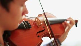 Violinist stock footage