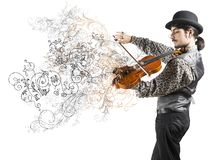 The violinist Royalty Free Stock Photo