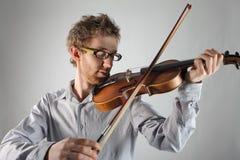 Violinista Imágenes de archivo libres de regalías