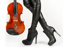 Violinista Imagens de Stock Royalty Free