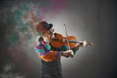 Violinista foto de stock