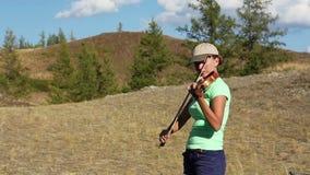 violinista almacen de metraje de vídeo