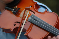 Violinista Fotografia Stock
