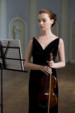 Violinista Fotografia Stock Libera da Diritti