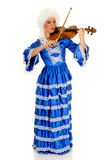 Violinista barroco Imagem de Stock