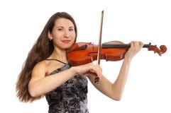 Violinista bonito Fotos de Stock Royalty Free