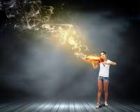 Violinista da menina Imagem de Stock