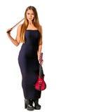 Violinista da menina dos executores da música Imagens de Stock