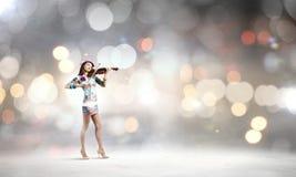 Violinista da mulher Imagem de Stock