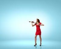 Violinista da mulher Foto de Stock