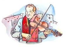 Violinista da rua Imagem de Stock Royalty Free