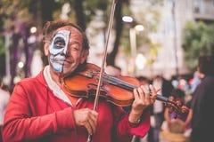 Violinista de Catrina Fotografia de Stock