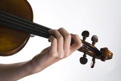 Violinista de la digitación fotografía de archivo