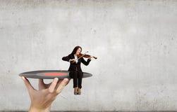 Violinista de la mujer Imagen de archivo