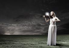 Violinista de la mujer Fotos de archivo libres de regalías