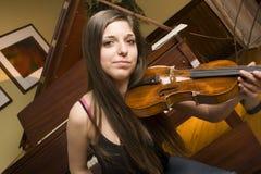 Violinista del estudiante Imagen de archivo