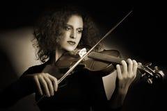 Violinista do jogador do violino fotografia de stock