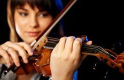 Violinista fêmea borrado imagem de stock royalty free