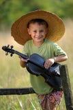 Violinista joven Imagenes de archivo