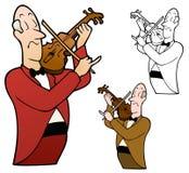Violinista Playing Classical Music ilustração royalty free