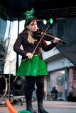 Violinista in scena Immagine Stock
