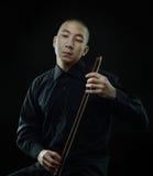 Violinista surreale fotografia stock libera da diritti